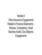 Module 8 - Other Assurance Engagements.pdf