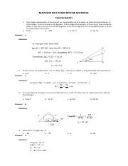 MATH23X EXIT EXAM QUESTIONS - TRIGONOMETRY (Recovered)