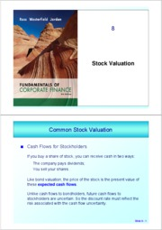 ch 8 (Stock Valuation)