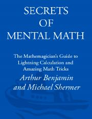 secrets of mental maths