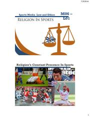 Religion in sports slides