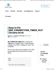 Easy to Fix ERR_CONNECTION_TIMED_OUT Chrome Error - Driver Easy.pdf
