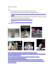 First moon landing one pager notes