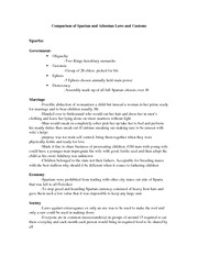 Comparison of Spartan and Athenian Laws and Customs - Handout