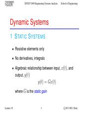 Lecture 10 - Oct.10.2013 - Dynamic Systems