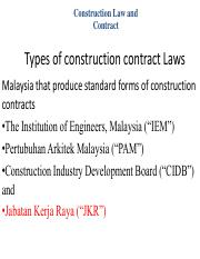EAT442 JKR Form 203A   Construction Law And Contract Types Of Construction  Contract Laws Malaysia That Produce Standard Forms Of Construction Contracts  Construction Contract Forms