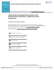 5. Total quality management practices and performance outcomes in Spanish service companies - pročit