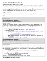 ACG3103-2 Week 10 Assignments & Notes