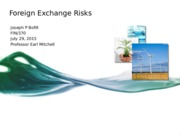 Foriegn Exchange Risks