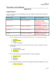Appendix B Piaget Worksheet