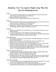 Analyzing Cross using Big Cheat Sheet for Analyzing Poetry