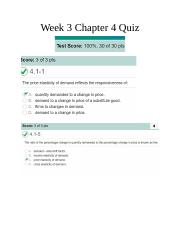 ECO 100 Week 3 Chapter 4 Quiz