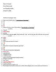 Textbook Scavenger Hunt Blank Student Copy