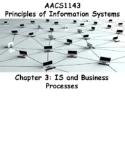 Chapter 3 IS and Business Processes - Students 201516