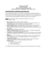 Draft 2 - Research Summary and Critique Paper Guidelines and Rubric.docx