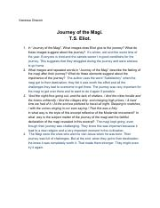 """Journey of the Magi""- Vanessa Chacon"