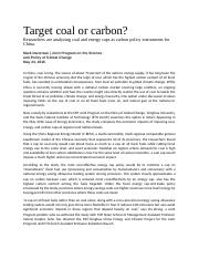 Target coal or carbon.docx