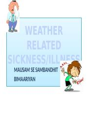 9 Weather pptx - Weather Mausam Vocabulary English Hindi