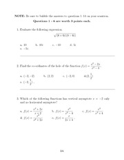 MAC1140 FALL 2012 EXAM 3