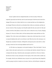 Gender Roles in Society Communication Essay