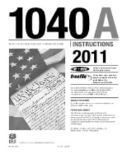 Form 1040A Instructions (1) - Userid DTD I1040AZ04 Leadpct-1 Pt ...