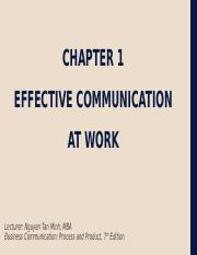 Chapter 1 - Effective and Ethical Communication