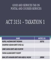 GST POSTAL AND SERVICES 2