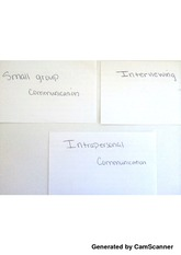 SP: Small group communication, Interviewing, Intrapersonal communication