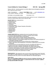 course_syllabus_for_general_biology_i-_spr_2008