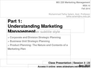 Session 3 - MG 220 MBA - 23 Aug 10