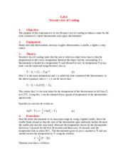 Lab 6 Newtons's Law of Cooling.doc