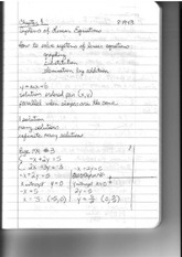 Finite Notes: Systems of Equations to Gauss-Jordan method