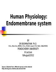 Human-physiology-II-lecture-Endomembrane-system-9.August.2012.ppt