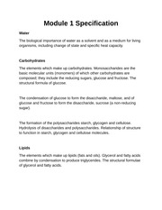 Module 1 Specification Notes