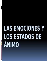 14 Emociones Y Estados De Animo Sv Pptx Las Emociones Y Los Estados De U00c1nimo Las Emociones Y Los Estados De Animo Hasta Hace Poco Tiempo Los Course Hero