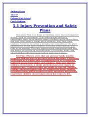 5.1 injury prevention and safe behavior.docx