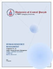 HUMAN RESOURCE MANAGMENT case study