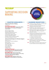 IT 101 - Chapter 10 SUPPORTING DECISION MAKING