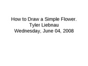 How to Draw a Simple Flower