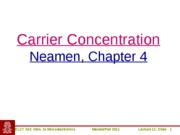 ELCT363_Lecture11_Carrier_Concentration