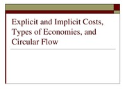 Costs and Circular Flow