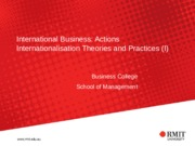 IB Topic 4 Internationalisation Approaches Part 1