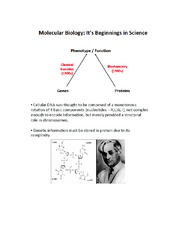Intro to Molecular Biology