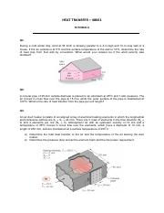 HT - Tutorial_7_Solutions pdf - HEAT TRANSFER 48661 TUTORIAL 7 Q1