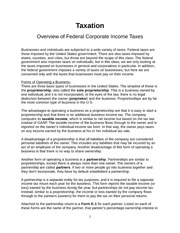 Taxation Notes