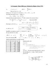 Lecture 16 Handout - Finite Difference IVPs