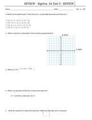 15-16_Unit 3 Test REVIEW_Functions Equations and Graphs