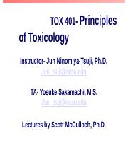 TOX 401 lecture 1