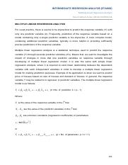 notes 5-Multiple Linear Regression Analysis-3.3.2014