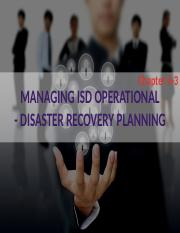 IMS656 Chapter 6-3 ISD OPERATIONAL - DISASTER          RECOVERY